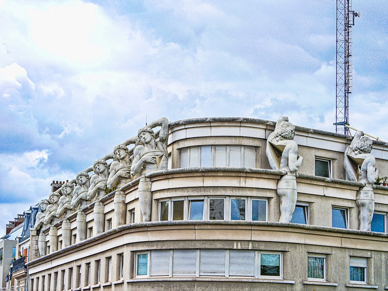 Art deco architecture in Paris, France