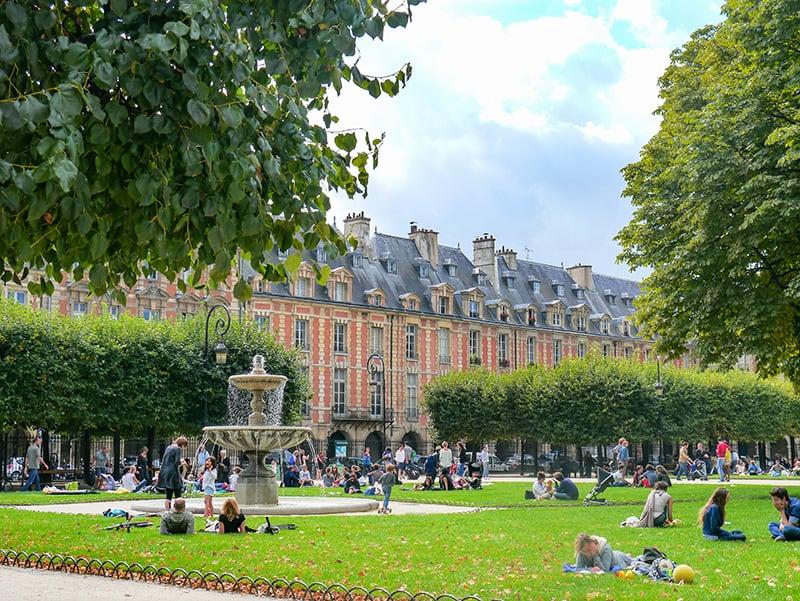 Place des Vosges, a hidden gem of Paris in The Marais district