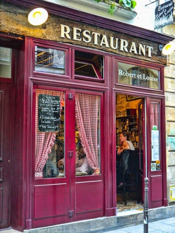Robert et Louise restaurant in Le Marais, Paris, France