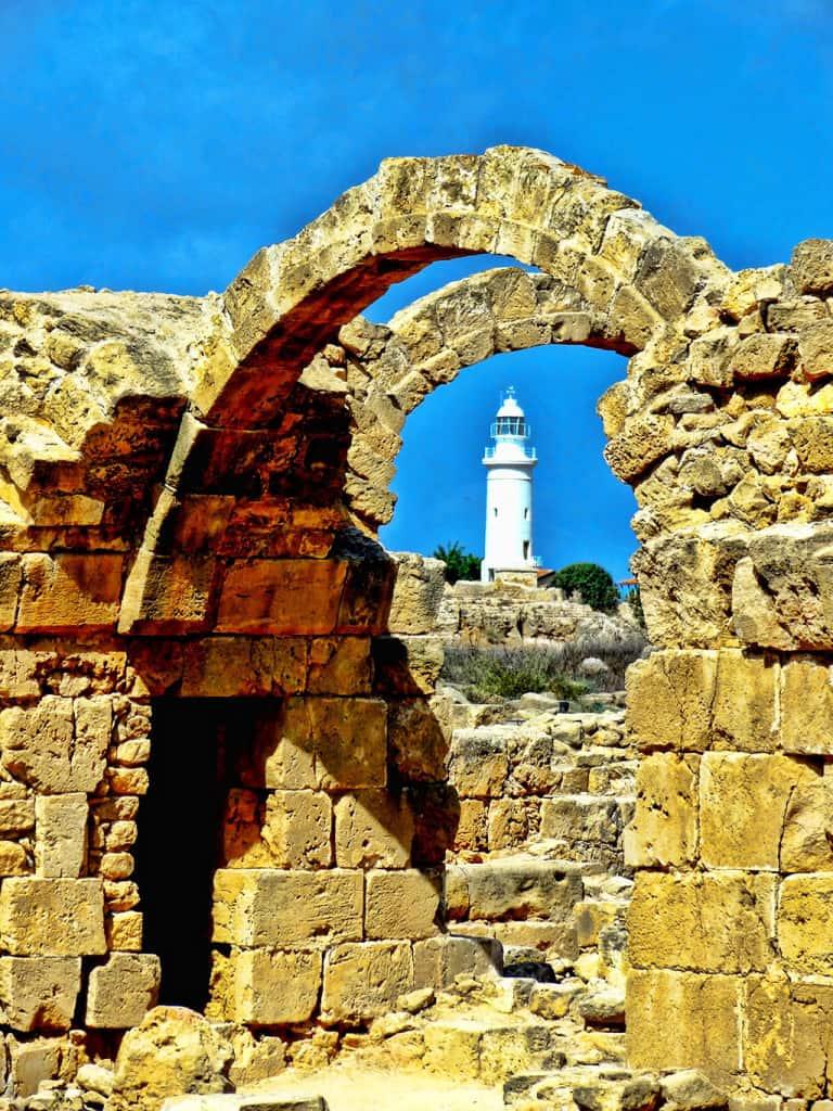 Cyprus landmarks - Paphos lighthouse