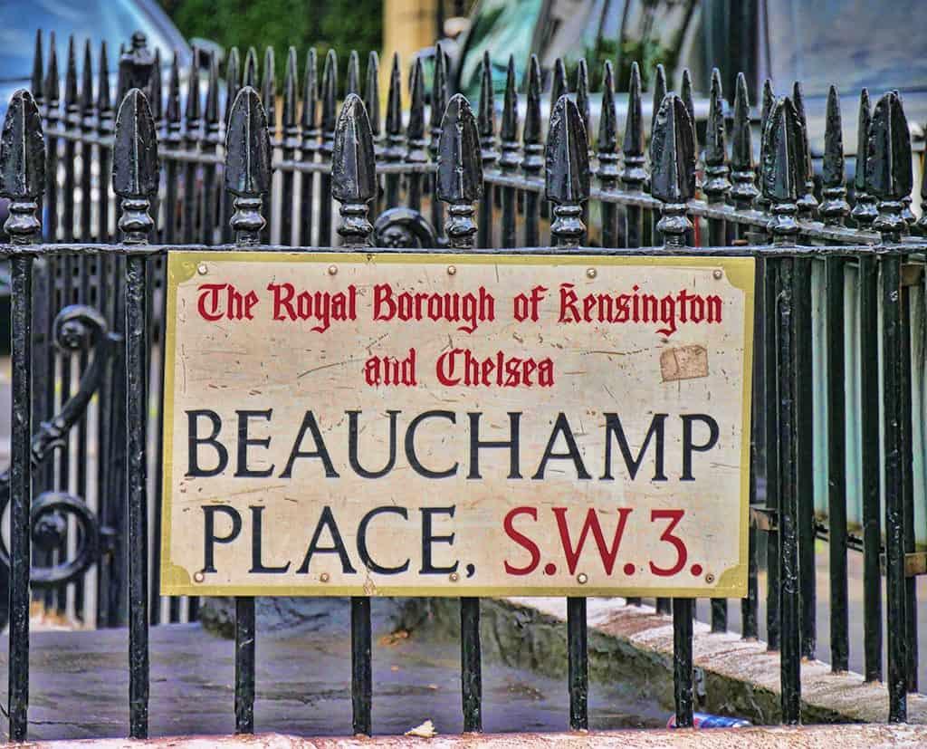 Beauchamp Place, Knightsbridge, London