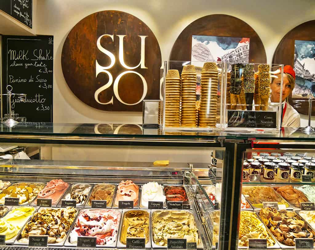 SuSo gelateria in Venice, Italy - love the flavours here!