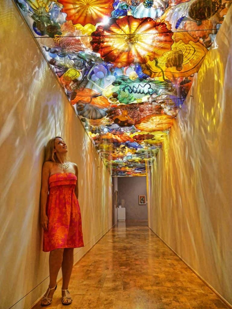 Dale Chihul glass corridor in the Baker Museum, Naples, Florida