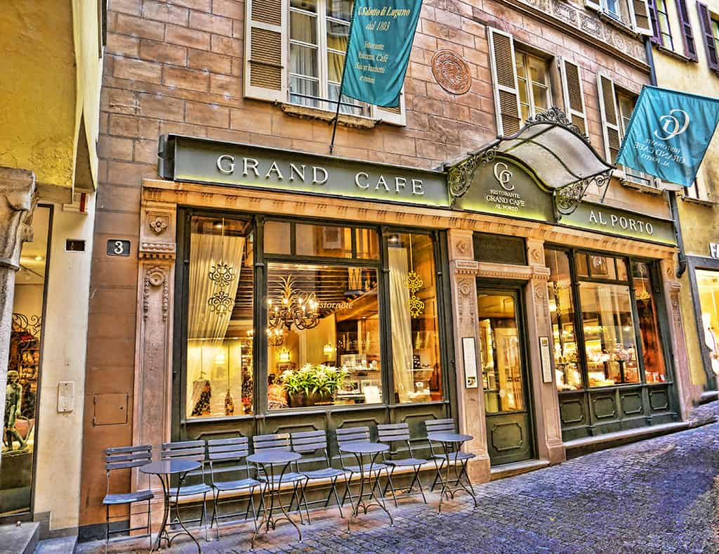 The Grand Café Lugano, love the cakes here!