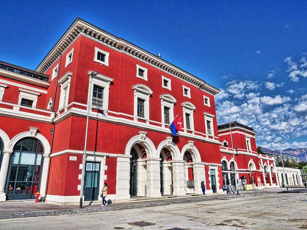 Lugano train station, Ticino canton, Switzerland