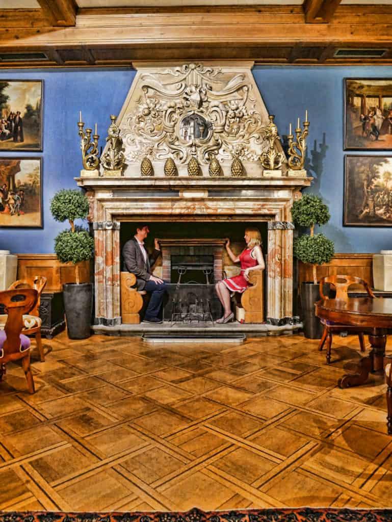 Villa Castagnola fireplace