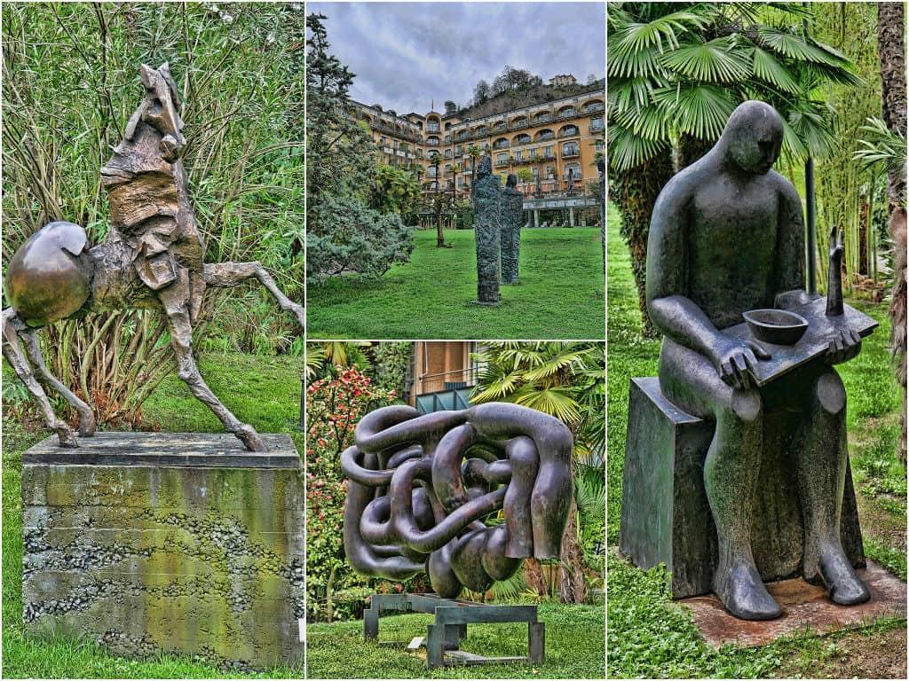Villa Castagnola sculptures