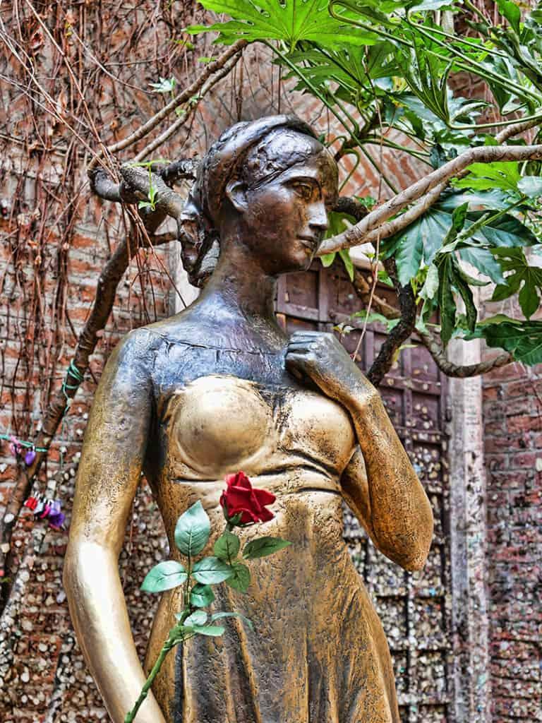The statue of Juliet in Verona, Italy