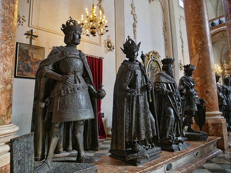 Hofkirche statues, Innsbruck, Austria