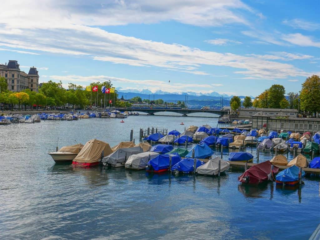 Lovely views from Munsterhof Bridge in Zurich, Switzerland - read what to do in Zurich on our luxury blog, Luxurycolumnist.com