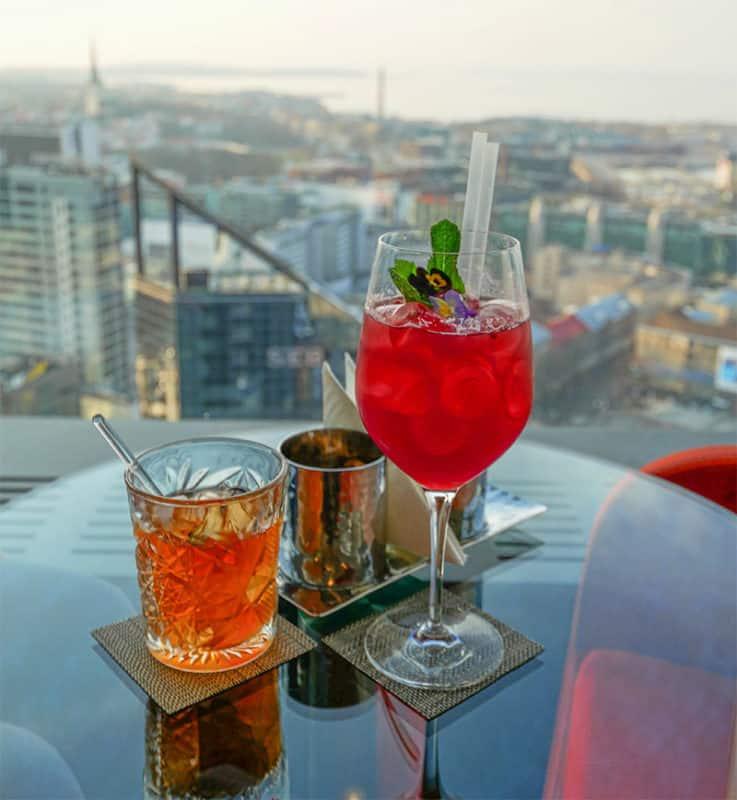 Horisont rooftop bar in the Swissotel, Tallinn, Estonia