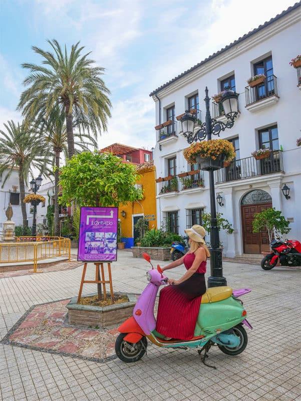 Colourful square in Alto Barrio, Marbella Spain