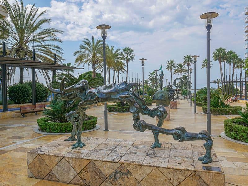 Dali sculptures in Marbella Spain