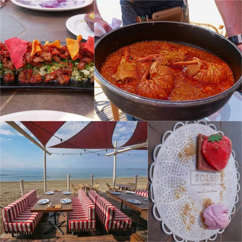 Soleo Restaurant and Beach Club in Marbella Spain