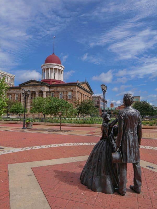 Abraham Lincoln statue, Springfield, Illinois
