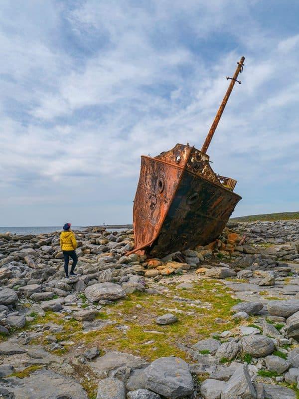 Plassey shipwreck on Inis Oirr, Aran Islands, Ireland