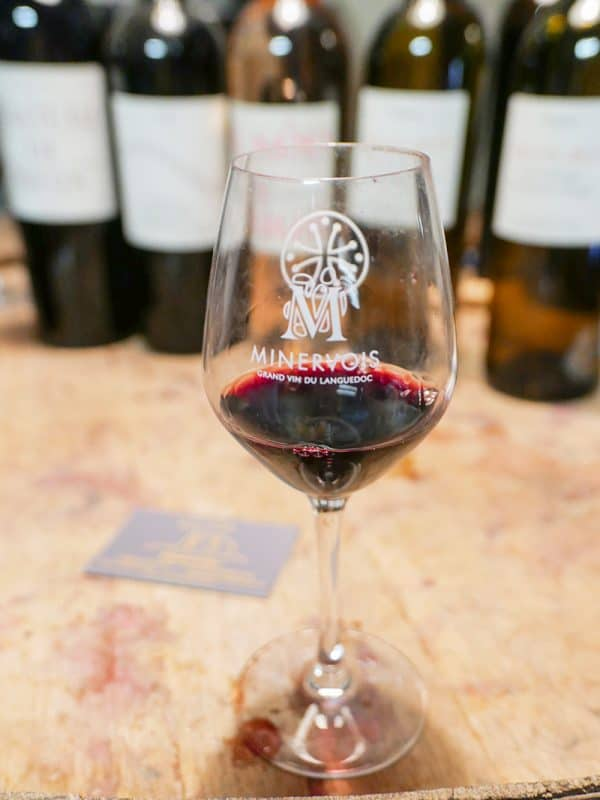 Minervois red wine