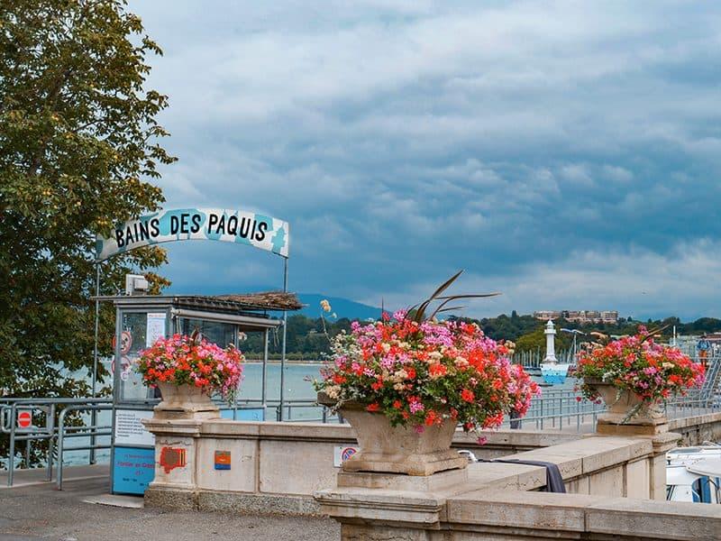 The Bains des Paquis lido in Geneva, Switzerland
