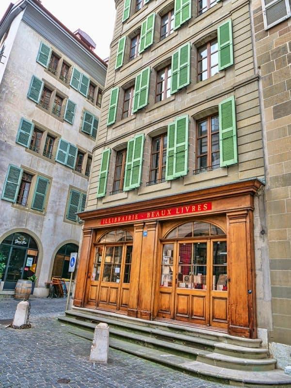 Geneva old town bookshop