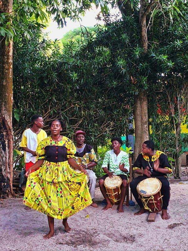 A traditional Garifuna drum in Belize
