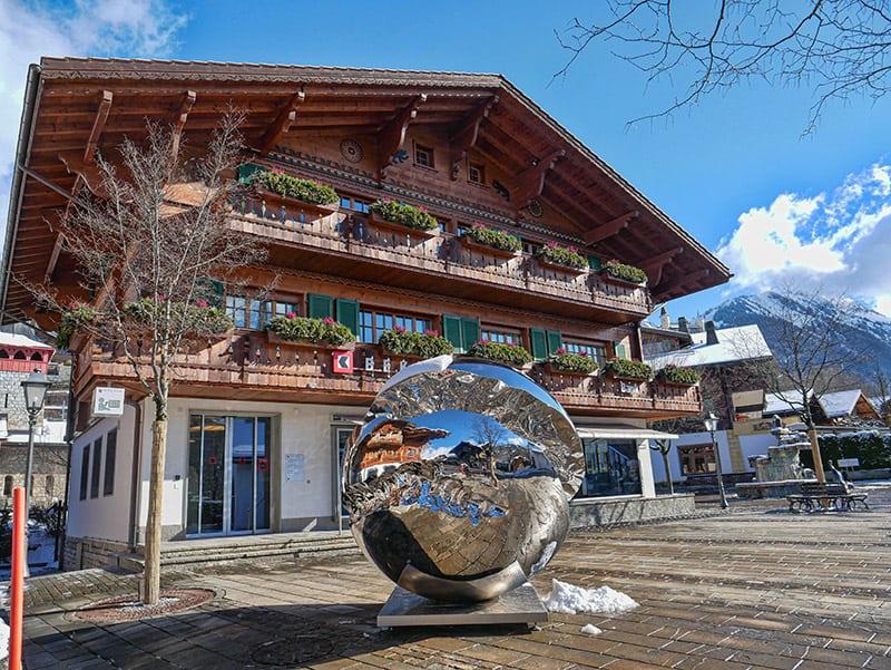 Gstaad town center, Switzerland
