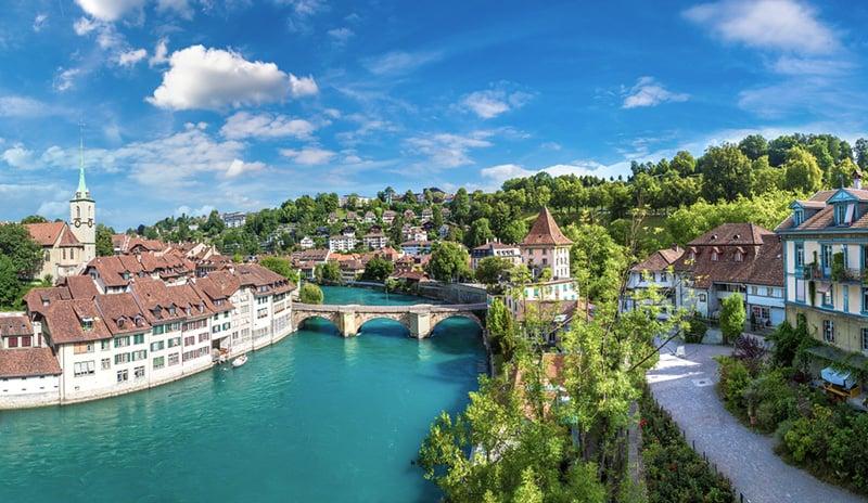 Bern city center in Switzerland