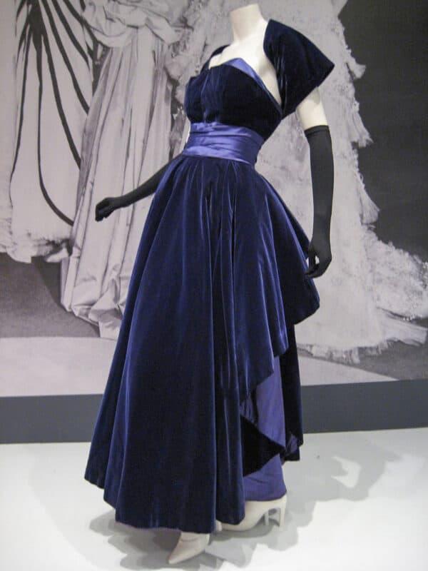 A Christian Dior vintage velvet dress