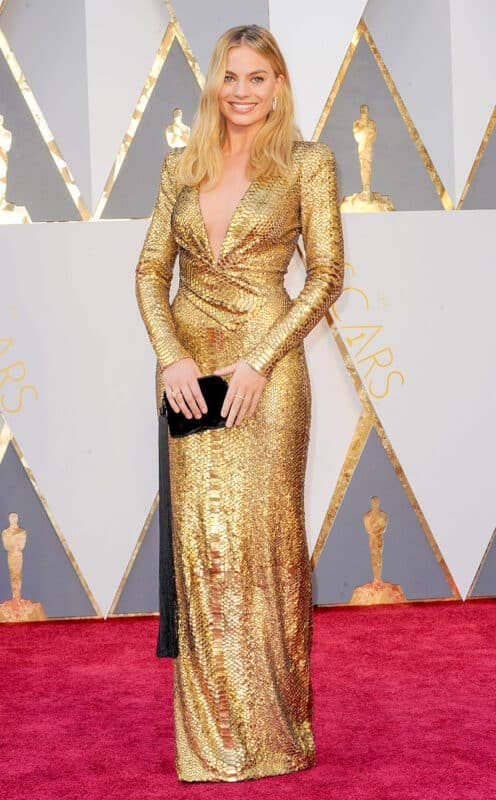 Margot Robbie wearing Tom Ford at The Academy Awards Oscars