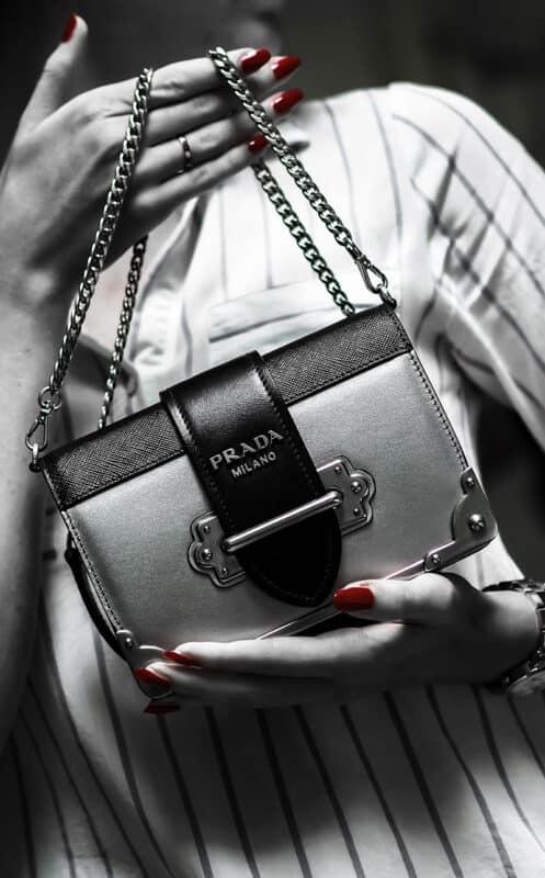 A Prada Milano handbag