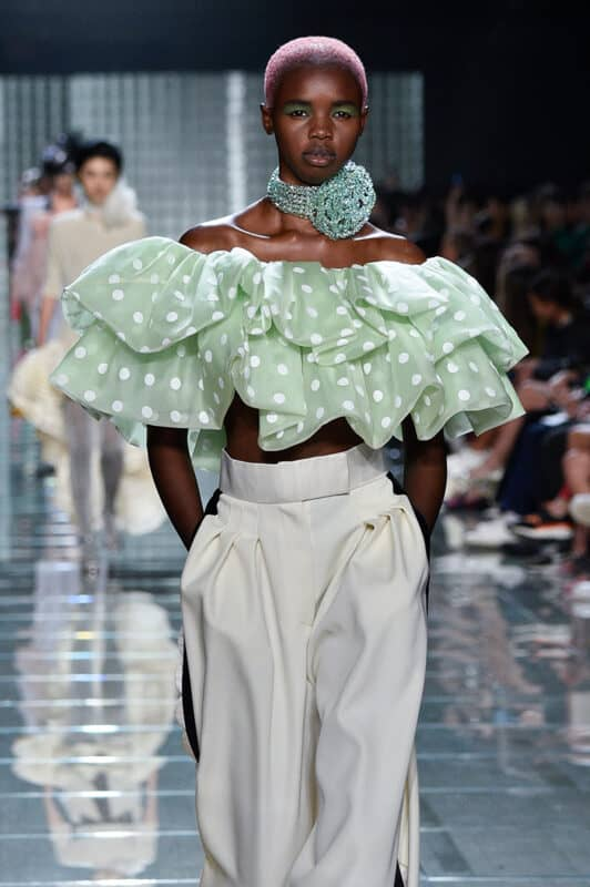 A model walks the runway during a Marc Jacobs show