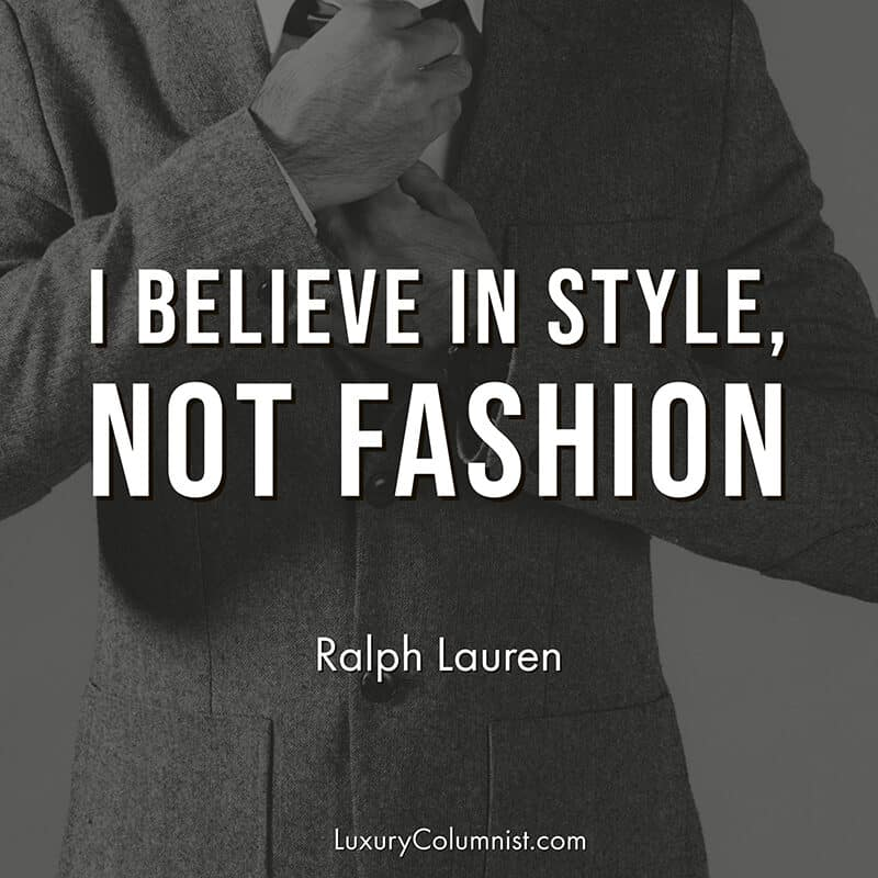 Classy quotes about style