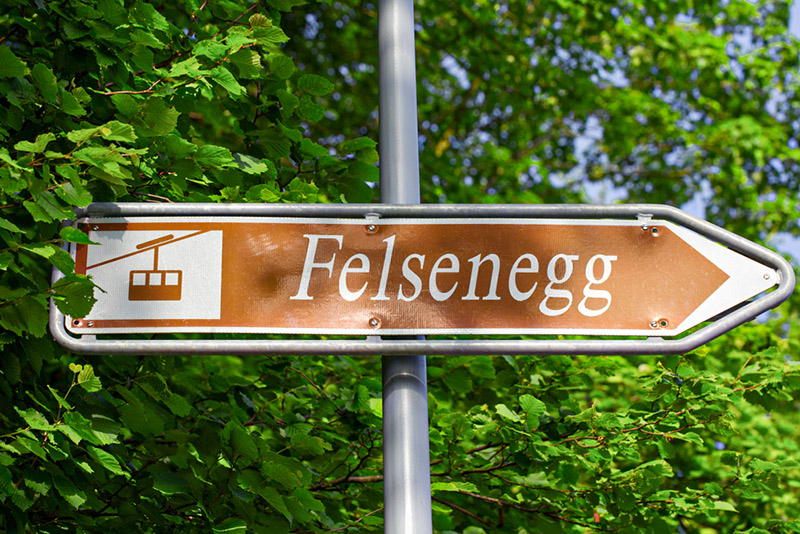 Directions to Felsenegg vantage point via the Adliswil cable car