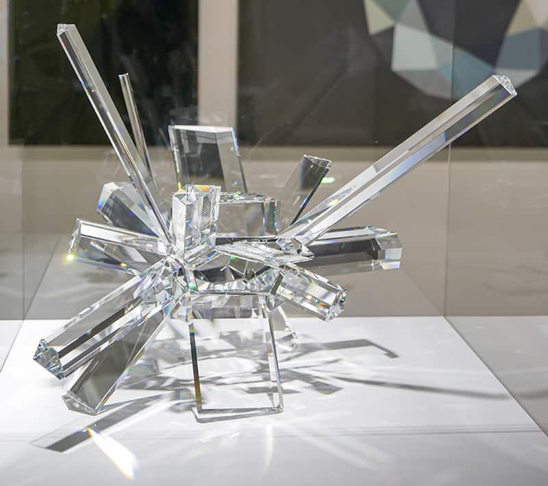 Swarovski crystal on display at Swarovski Kristallwelten