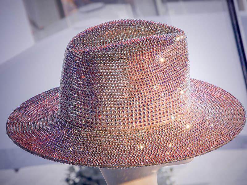Shimmering Swarovski crystal hat