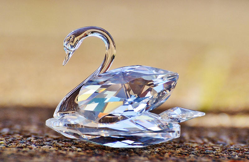 The famous Swarovski crystal swan