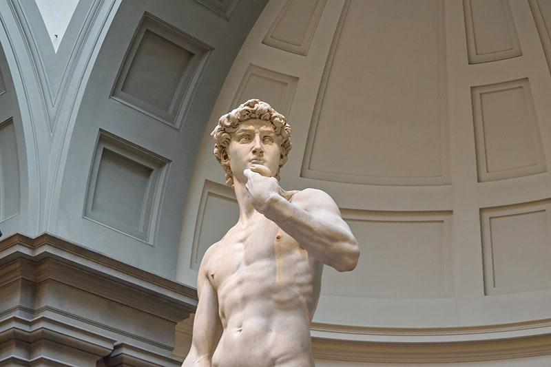 David of Michelangelo statue at Galleria dell'Accademia di Firenze