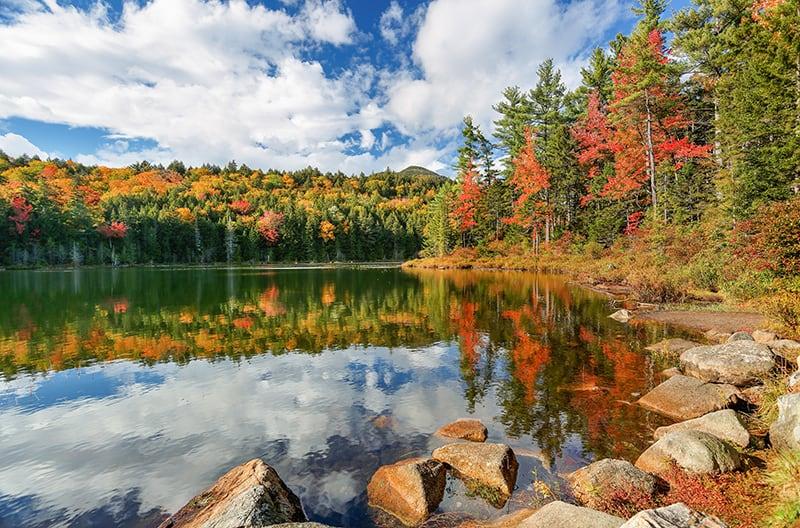 Falls Pond at White Mountain, New Hampshire