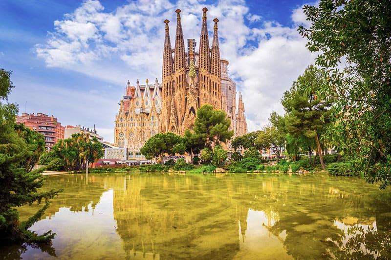 La Sagrada Familia cathedral in Barcelona, Spain