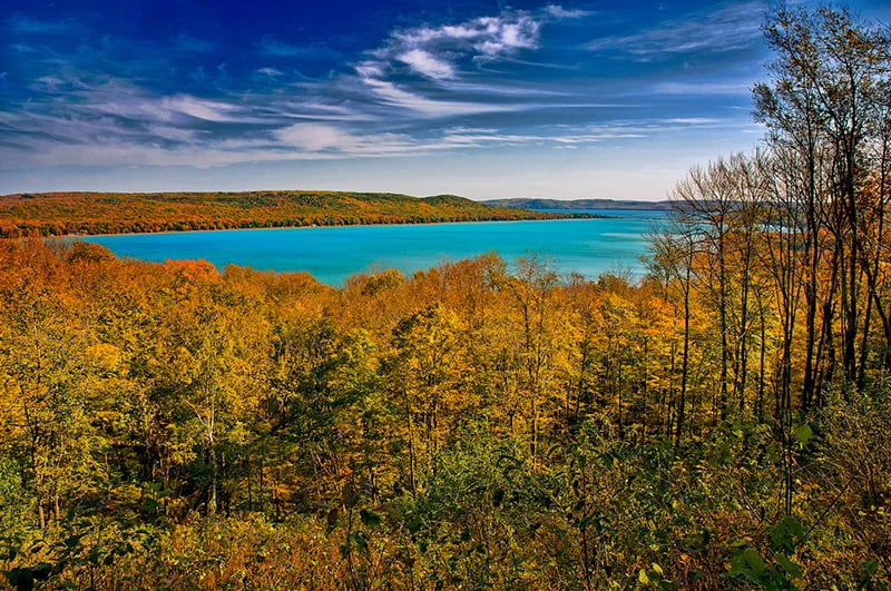 Lake Michigan - one of the best Fall vacations in the US