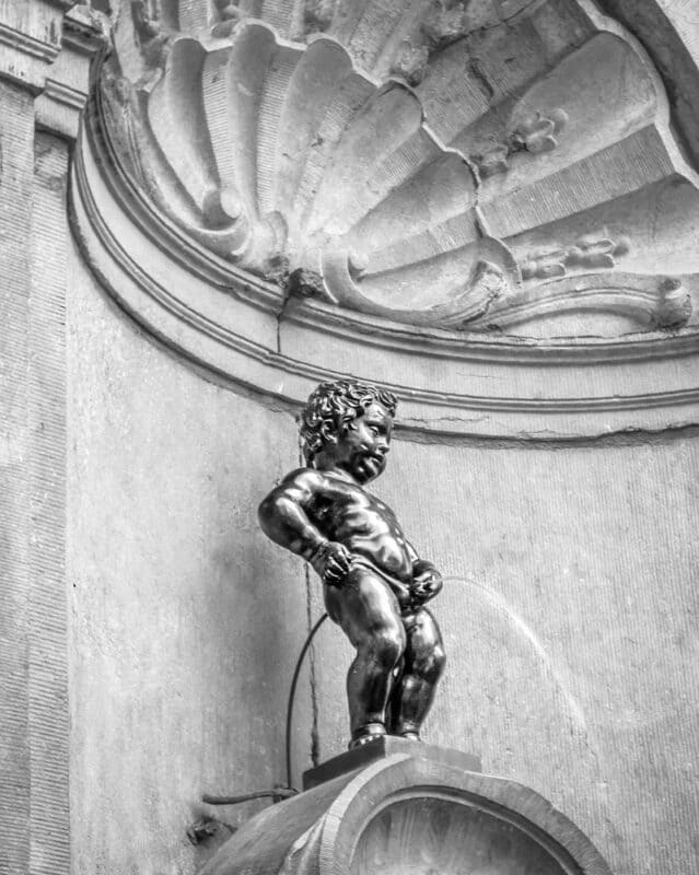 The Manneken Pis is one of the most famous sculptures