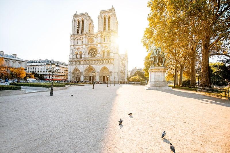 Notre-Dame de Paris Cathedral in Paris, France before the fire