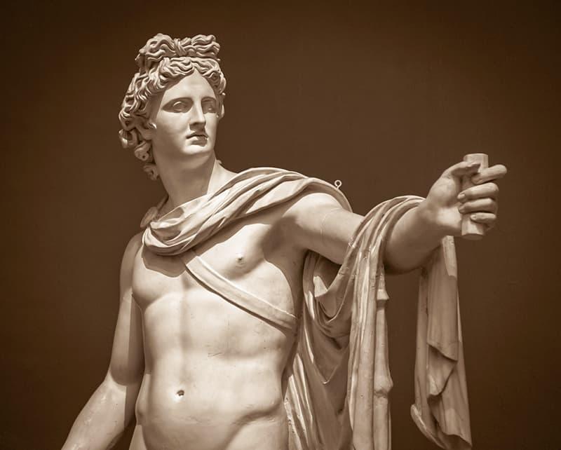 The Apollo Belvedere statue in the Vatican Museum