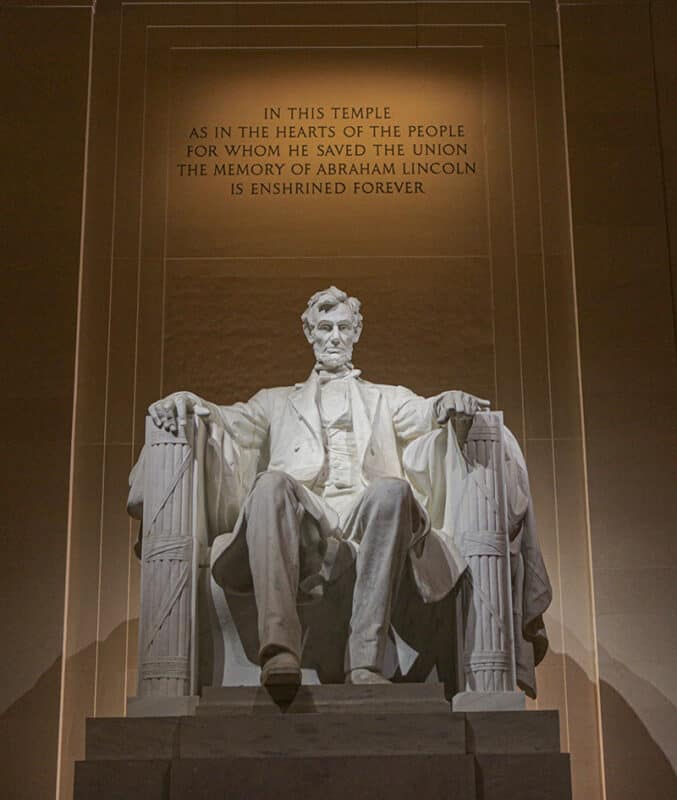 Lincoln Memorial in the National Mall, Washington DC