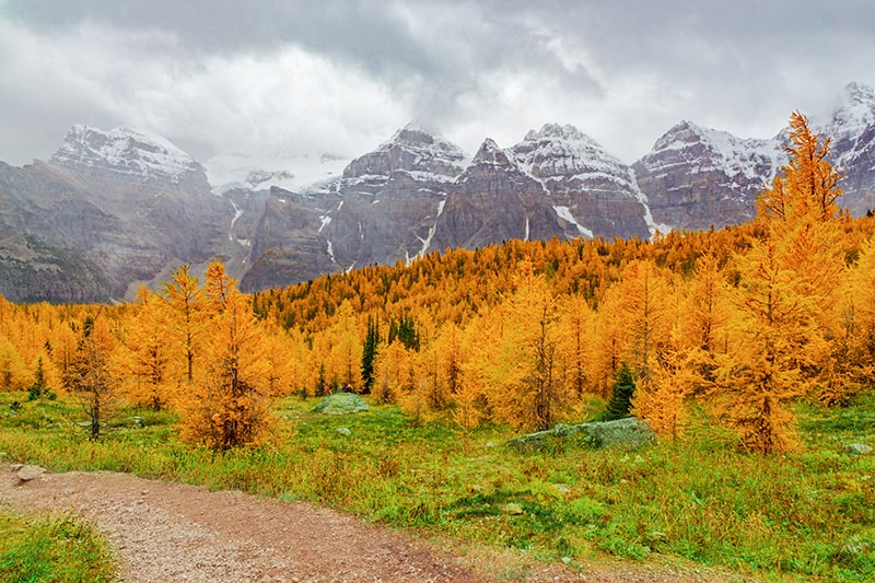 Wasatch Mountain Range in fall
