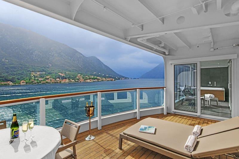 A Wintergarden Suite on board Seabourn Ovation
