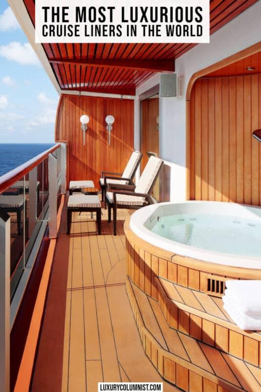 The finest luxury cruise lines worldwide