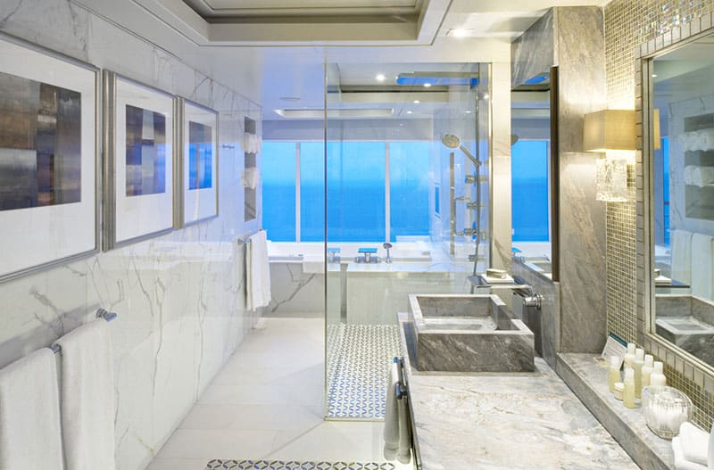 A Crystal Cruises luxury bathroom