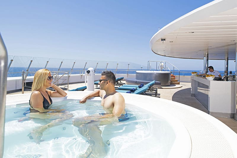 The Spa Vitality Pool on board Scenic Eclipse